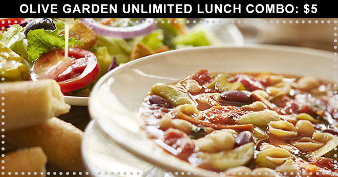Olive Garden Unlimited Lunch Combo 5