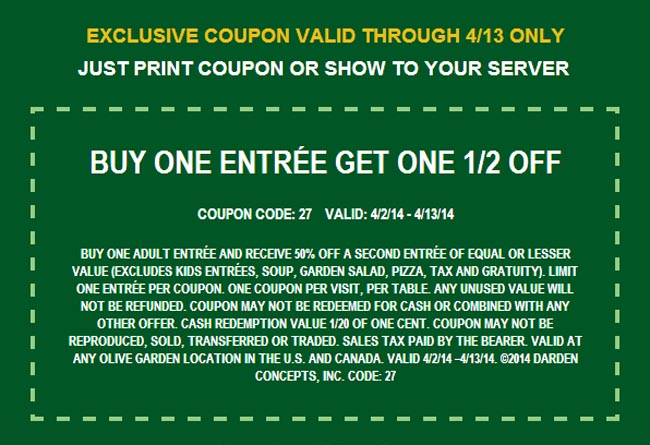 4 off olive garden coupon printable