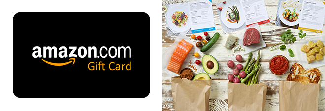 $50 Amazon Gift Card + 6 Meals: $36